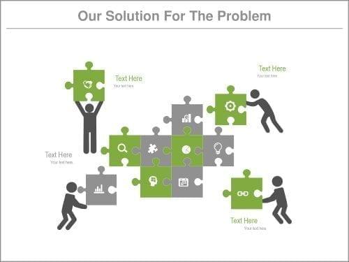 Problem solution slide template
