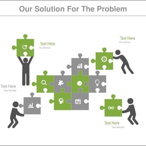 Problem solution slide template