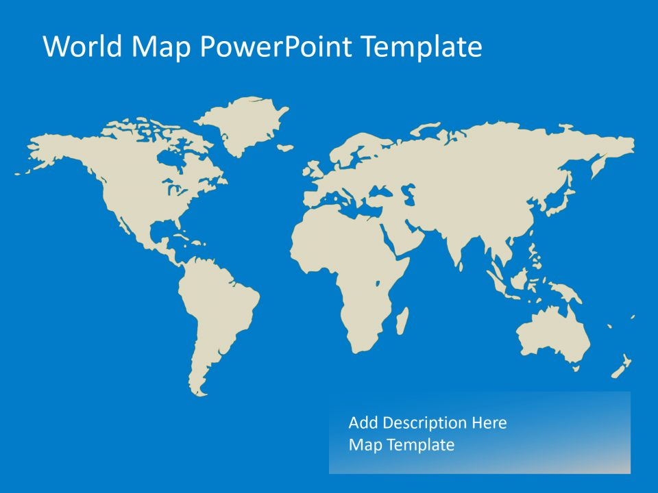 World Map Powerpoint Template Slidevilla