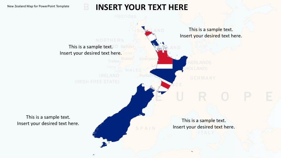 New Zealand Map For Powerpoint Template Slidevilla